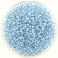 Miyuki Round Seed Beads Size 8/0 Sky Blue Lined Crystal 24G