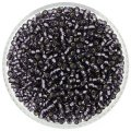Miyuki Round Seed Beads Size 8/0 Silver Lined Amethyst 24G