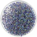 Miyuki Round Seed Beads Size 8/0 Amy Lined Crystal AB 24G
