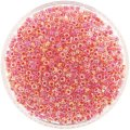 Miyuki Round Seed Beads Size 8/0 Dk Coral Lined Crystal AB 24G