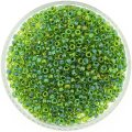 Miyuki Round Seed Beads Size 8/0 Green Lined Chartreuse 24GM