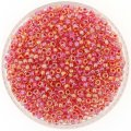 Miyuki Round Seed Beads Size 8/0 Hot Pink Lined Crystal AB 22GM