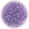 Miyuki Round Seed Beads Size 8/0 Silver Lined Lilac Alabastr 24G