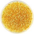 Miyuki Round Seed Beads Size 8/0 Silver Lined Gold 24G