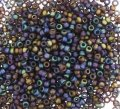 Miyuki Round Seed Beads 15/0 Matte Transparent Brown AB 8.2GM
