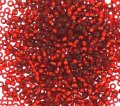 Miyuki Round Seed Beads 15/0 Silver Lined Burnt Orange 8.2GM