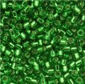 DB046 Miyuki Delica Seed Beads 11/0 Silver Lined Lt Green 7.2GM