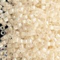 DB066 Miyuki Delica Seed Beads 11/0 Lined White AB 7.2g