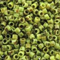 DB2265 Miyuki Delica Seed Beads 11/0 Picasso Chartreuse Matte