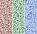 Miyuki Delica Seed Beads 11/0 Combo: Opq Champagne, Mint, Blue