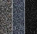 Miyuki Delica Seed Beads 11/0 Combo: Matte Gray Black Collection