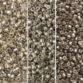 Miyuki Delica Seed Beads 11/0 Combo: Silver/Pewter Collection