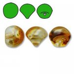 Czech Glass Mushroom Beads 9x8mm (30) Crystal Apricot
