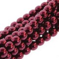 Czech Glass Pearls Round 3mm 150pcs/str Burgandy