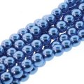 Czech Glass Pearls Round 3mm 150pcs/str Persian Blue