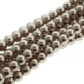 Czech Glass Pearls Round 3mm 150pcs/str Champagne