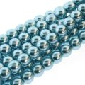 Czech Glass Pearls Round 3mm 150pcs/str Cerulean