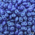 Czech SuperDuo Two-hole Beads 5.5x2.5mm Tropical Blue Grape