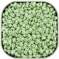 Czech SuperDuo Two-hole Beads 5.5x2.5mm Chalk Green Luster Light