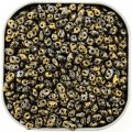 Czech SuperDuo Two-hole Beads 5.5x2.5mm Tweedy Gold 24G