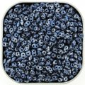 Czech SuperDuo Two-hole Beads 5.5x2.5mm Tweedy Blue 24G