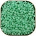 Czech SuperDuo Two-Hole Beads 5.5x2.5mm Silk Green Aqua 24g