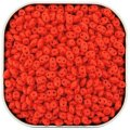 Czech SuperDuo Two-Hole Beads 5.5x2.5mm Opaque Coral Red 24G