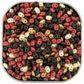 "Czech SuperDuo Two-hole Beads 5.5x2.5mm ""Chocolate Cherries"" Mix"