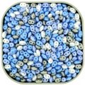 "Czech SuperDuo Two-hole Beads 5.5x2.5mm ""Little Boy Blue"" Mix"