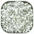 "Czech SuperDuo Two-hole Beads 5.5x2.5mm ""White Wedding"" Mix 24G"