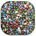 "Czech SuperDuo Two-hole Beads 5.5x2.5mm ""Rose Cottage"" Mix 24g"