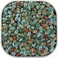 "Czech SuperDuo Two-hole Beads 5.5x2.5mm ""River Walk"" Mix 24G"