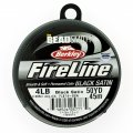 "Fireline Beading Thread 4LB Satin Black .006"" dia. 50 Yards"