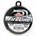 "Fireline Beading Thread 6LB Satin Black .006"" dia. 50 Yards"
