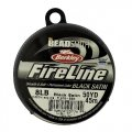 "Fireline Beading Thread 8LB Satin Black .007"" dia. 50 Yards"