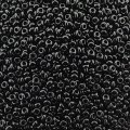Demi Round Seed Beads Size 11/0 8.2GM Jet Black