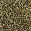 Demi Round Seed Beads Size 11/0 8.2GM Bronze Lined Crystal