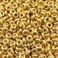 Demi Round Seed Beads Size 6/0 8.2GM Perma Finish Glvnzd Gold