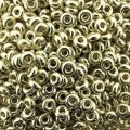 Demi Round Seed Beads Size 6/0 8.2GM Duracoat Galvanized Silver