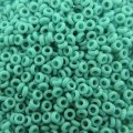 Demi Round Seed Beads Size 8/0 8.5GM Opaque Turquoise