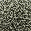 Demi Round Seed Beads Size 8/0 8.5GM Metallic Frosted Ant Silver