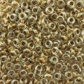 Demi Round Seed Beads Size 8/0 8.5GM Bronze Lined Crystal