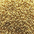 Demi Round Seed Beads Size 8/0 8.5GM PermaFinish Glvnd Gold