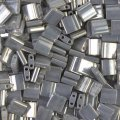 Miyuki Tila Beads 5mm 2-hole Square Galvanized Grey Luster 7.2G
