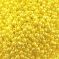 Seed Beads Round Size 11/0 28GM Opaque Lustered Dandelion 11-128