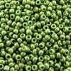 Seed Beads Round Size 11/0 28GM Opaque Lustered Moss Green