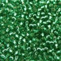 Seed Beads Round Size 11/0 28GM Silver Lined Dark Peridot