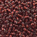 Seed Beads Round Size 11/0 28GM Silver Lined Garnet