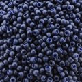 Seed Beads Round Size 11/0 28GM Semi Glazed Navy Blue