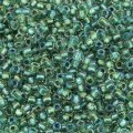 Seed Beads Round Size 11/0 28GM Inside Color Rainbow Teal Lined
